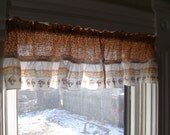 Set of 3 Adorable Vintage 70's Mushroom Valances/Curtains
