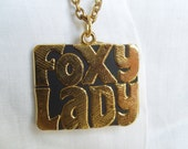 70's Foxy Lady Necklace