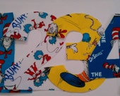 Dr. Seuss Number  No Sew Applique Number or Initial