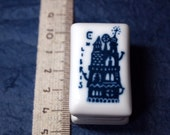 rubber stamp with porcelain handle (no.09) building