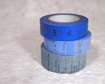 masking tape 3 rolls set  blue (iy003)