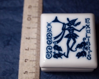 rubber stamp with porcelain handle (no.03) pierrot
