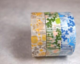 masking tape 3rolls set (little garden)