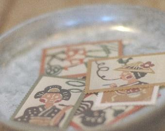 water glue stickers from SEKI MIHOKO (31-04, 05) 2 options