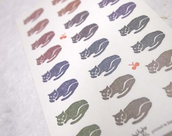 stickers from SEKI MIHOKO (cats or girl selling matches, 2 options)