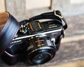 Panasonic GX1 black leather camera bag Full Case and Strap designed by KAZA