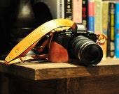Olympus O-MD E-M5 EM-5 vintage Cow leather half case strap for em5