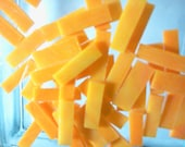 50 Small MARIGOLD BORDERS (1/4 X 3/4-1) Stained Glass Tile Borders - Yellow Mosaic