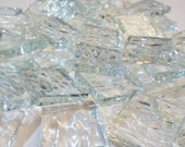 """100 3/8 in Textured Mosaic Tile - CLEAR """"ICE"""" Stained Glass Ice2"""