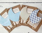 Boy Baby Shower Invitations Custom Baby Boy Announcements Personalized Shower Invites Kraft Paper Carriage - Set of 10