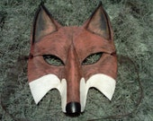 Handcrafted Leather Fox Mask