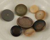 Group of 8 Vintage Buttons, Neutral Colors