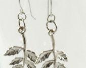 Silver Leaf Earrings CLEARANCE SALE, Tarnished