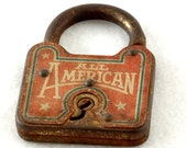 old rusty All American vintage antique lock