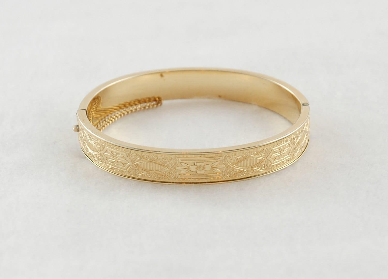 vintage krementz bracelet 14k gold overlay filled by