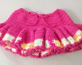 Hot Pink Ruffled Skirt - 24 to 36 months