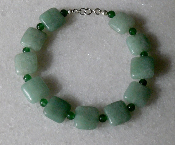Lucky green aventurine for St Patrick's Day