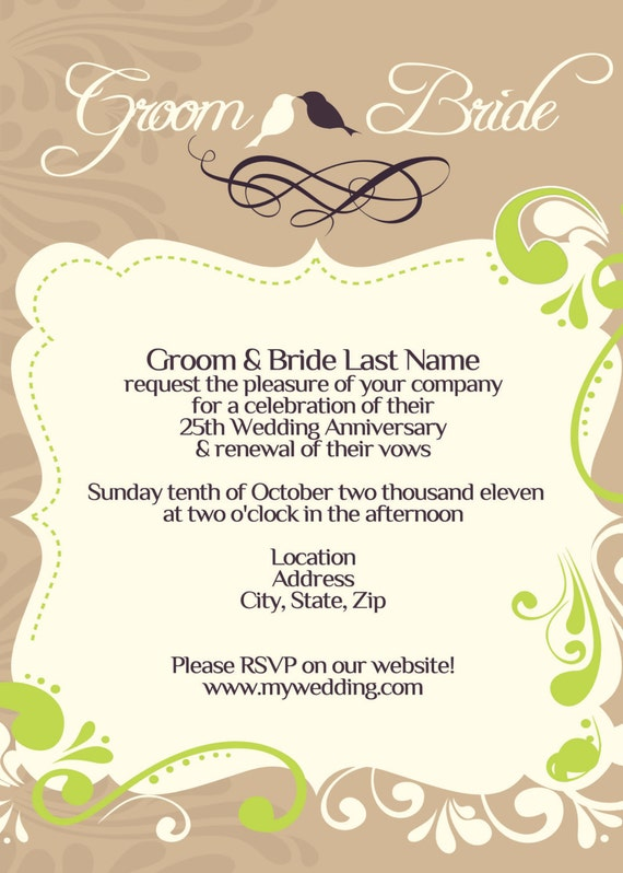 Items similar to wedding vow renewal invitation i for Free printable wedding vow renewal invitations
