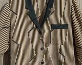 Chanel Tuxedo inspired vintage blouse