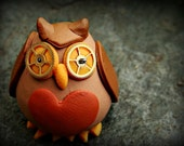Tiny steampunk owl figurine, Ellis