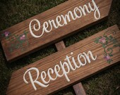 Wedding Sign, Ceremony or Reception, signage decor