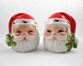 Christmas Santa Salt Pepper Shakers Josef Originals Japan
