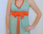 "Gameday Dress, Hurricanes ""Little Miss TD""  Also comes in solid colors."
