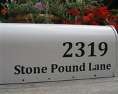 Mailbox Lettering - Custom Vinyl Mailbox Numbers and Address