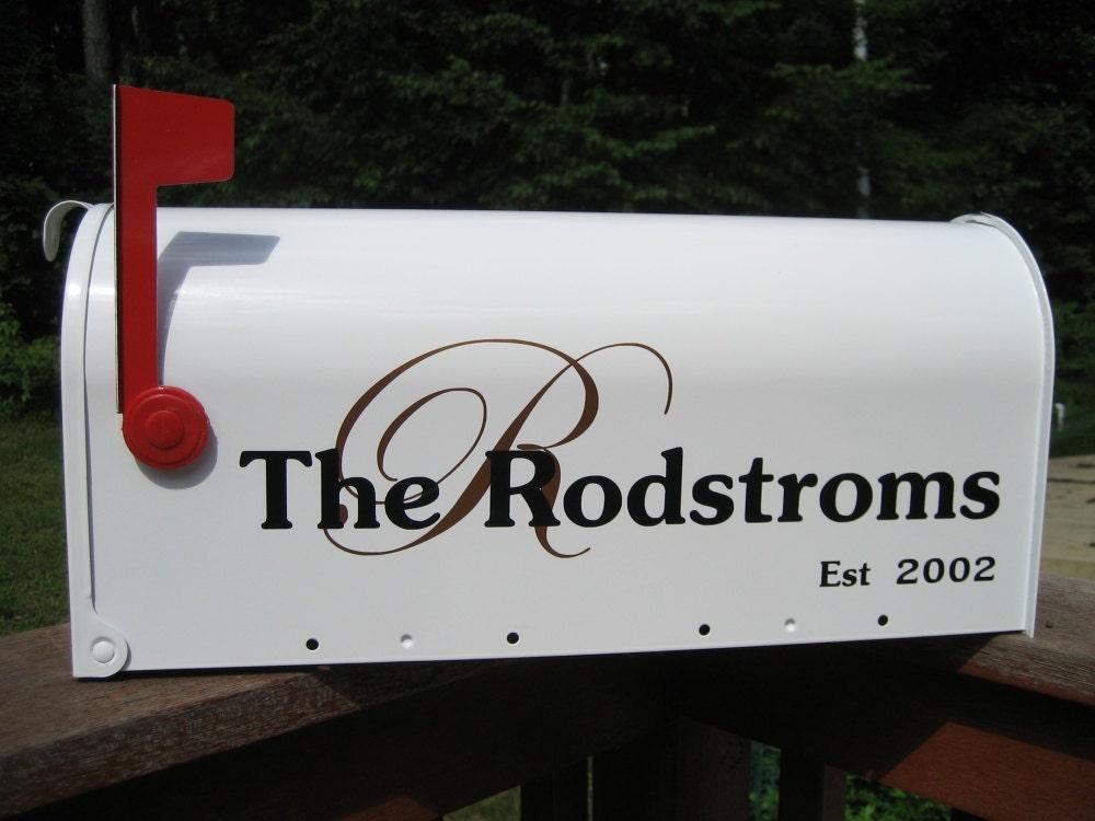 custom wedding card mailbox vinyl lettering personalize your With custom mailbox lettering