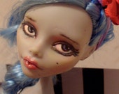 Ooak Monster high Ghoulia , repaint, tattoed girl, fantasy doll, custom monster high