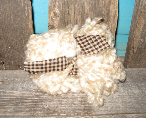 Primitive BLONDE Loopy Doll Hair for Doll Making Supplies For Primitive Rag Dols