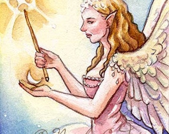 Angel of magic open edition ACEO print