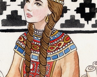 Byzantine princess limited edition ACEO print