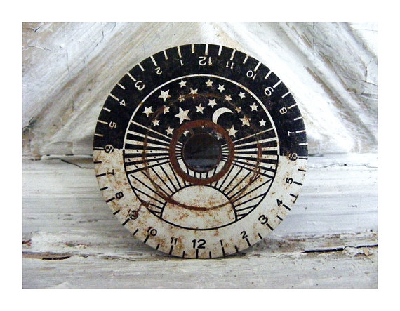 Moon and Stars Limited Edition 1/100 Giclee of Clock Face/Dial