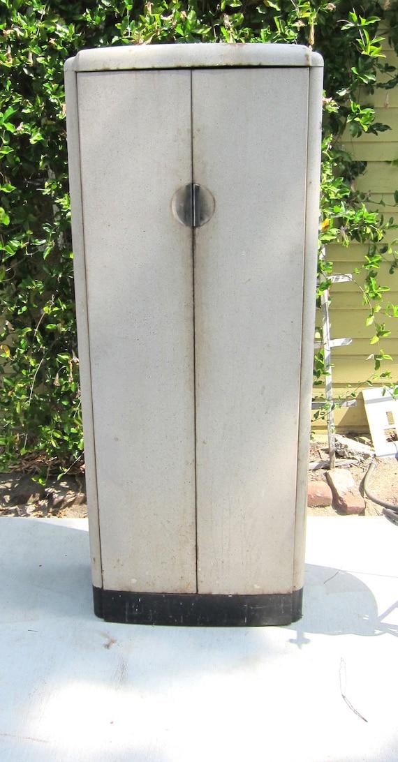RESERVED FOR TANYA Vintage Deco metal locker 1930s