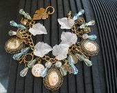 Alice's Pool of  Tears Vintage  Alice in Wonderland Charm Bracelet