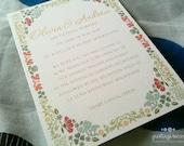 Printable Wedding Invitation with RSVP - Aubrey