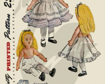 Original Uncut 1947 Alice in Wonderland Doll & Clothes Sewing Pattern S2240