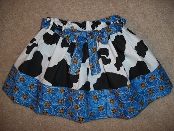 cowgirl dress up skirt blue girl size Jessie Disney Toy Story Birthday Party 2t 3t 4t READY to SHIP