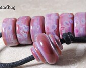 Handmade Lampwork Glass Beads -  Sedona Tyre/Donut and Baroque Glass Bead Set