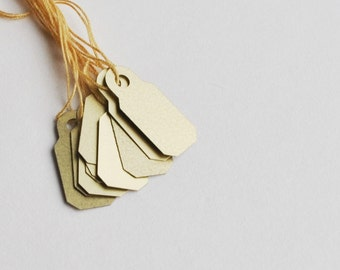 itsy metallic gold tags (10 tags)