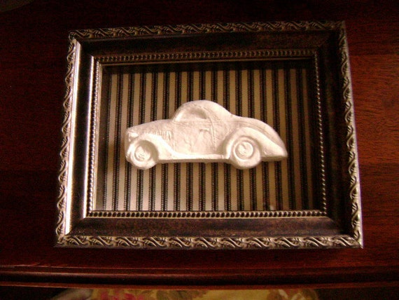 CLASSIC CARS - 1936 Ford Coupe - Hand Carved Cast Paper Wall Art 'For Him' - Shadow Box Artwork - Father's Day Gift Idea