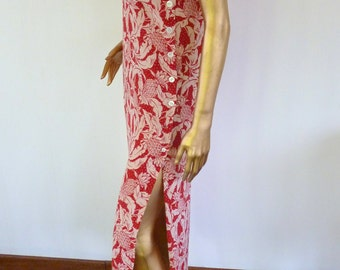 Pineapple print 70's silk dress, Atelier Yoshi Inaba 50% off