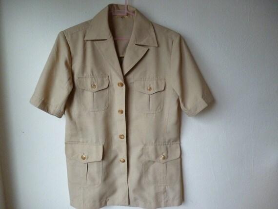 s 70 s beige safari suit jacket