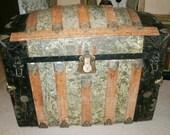 Antique Camelback Trunk 1800's