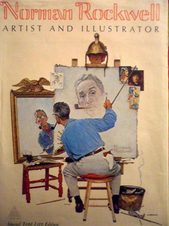 Norman Rockwell Book (Artist and Illustrator) 1970/ Vintage Books/Coolectible Books