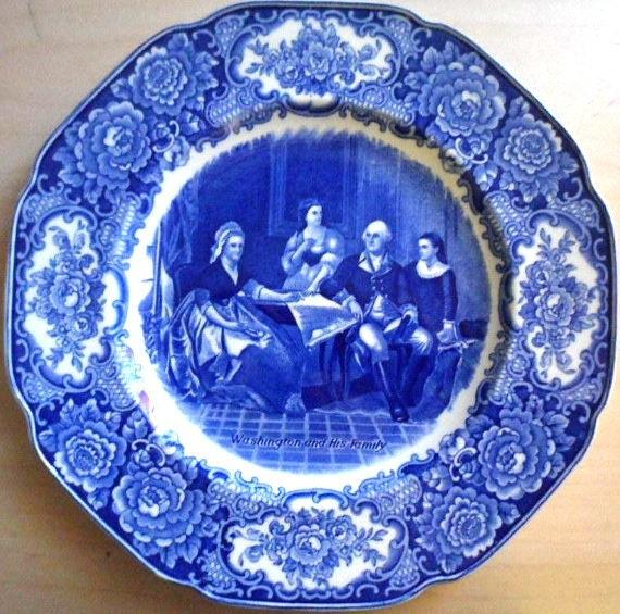 George Washington Bicentennial Memorial Plate ( Crown Ducal England ) 1732-1932