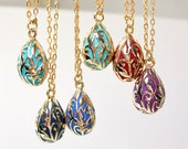 Tear drop pendant gold jewelry victorian teardrop  antique enamel old style jewelry shops