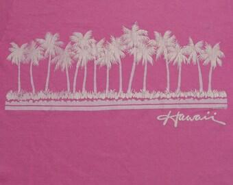 Vintage 80s HAWAII PINK Hanes T shirt