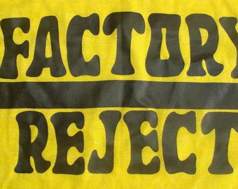 Vintage 70s FACTORY REJECT YELLOW T Shirt